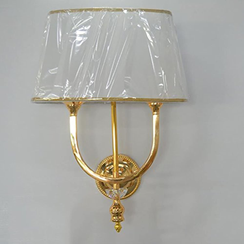 GAOJUAN Moderne Poliertem Chrom Doppel Nachttischlampe Wandleuchte Hotel Engineering Restaurant Schlafzimmer Beleuchtung Goldene Wandleuchte (40  22  46 cm),Gold