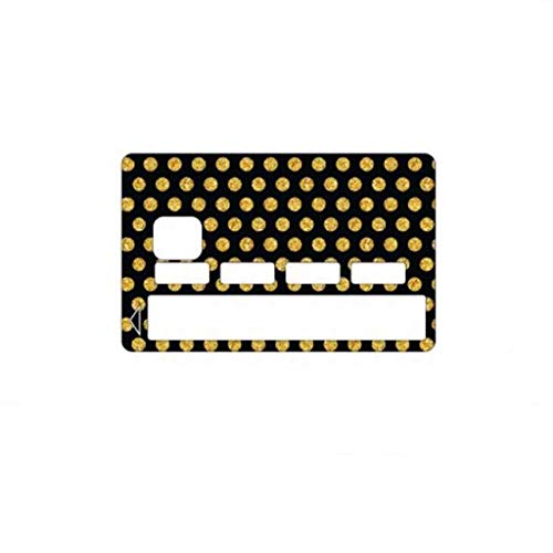 Kustom Factory Sticker voor bankkaarten, gemaakt in Frankrijk, zwart en goudkleurig gestippeld