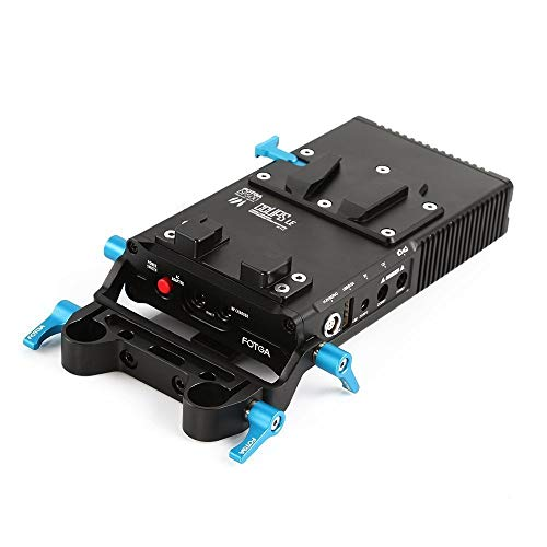 FOTGA DP500III V-Mount V-Lock BP Battery Plate Power Supply for Sony A7 A7R A7Rs II III A9 A6300 A6500 Panasonic GH4 GH5 GH5s Canon EOS 5D 6D 7D Mark II III Nikon D850 with Lock and 15mm Rod Clamp