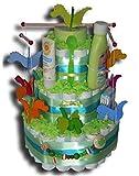 Tarta de pañales Zauber – Dragón para niños y niñas, regalo neutral para bebés, bautizos, nacimientos
