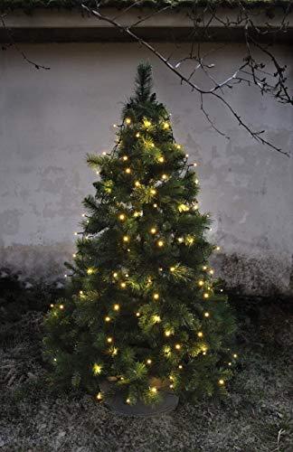 LED-Baumvorhang, 160-teilig Farbe: warm white, Kabel: schwarz 8 Stränge für ca. 180 - 200 cm Bäume, outdoor, mit Trafo
