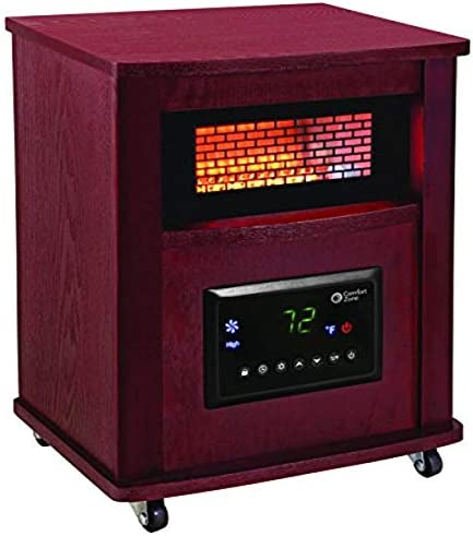 Comfort Zone CZ2032C Infrared Quartz Wood Cabinet Heater 16 Cherry product image