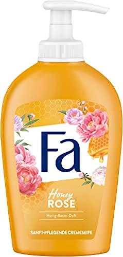 Fa Sanft-pflegende Flüssigseife Honey-Rose mit sinnlichem Honig-Rosen-Duft, 250 ml