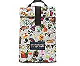 Jansport Combo Set Multi Stickers Rolltop Lunch Bag with Matching 'Digital Burrito' Electronics Pouch/Pencil Case