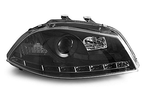Koplampen Seat Ibiza 6L 02-08 Daylight LED zwart (E08)