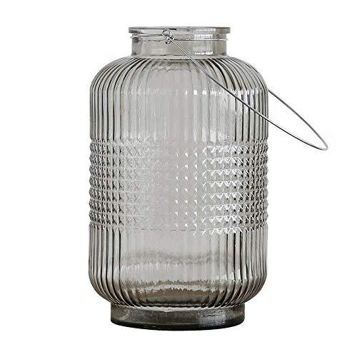 Portavelas decorativas Portavelas creativas Lámparas de vidrio minimalistas modernas Portavelas a prueba de viento Florero de jardín de viento Soporte de flores for el hogar