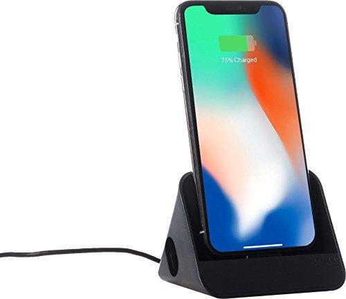 Ozaki O!Tool Dock - MFI zertifizierte Lightning-Dockingstation/Desktopstation mit akustischem Verstärker & 1,2m Kabel Laden/Synchronisieren kompatibel mit z.B. Apple iPhone SE (2020) / 8 / XR / Xs