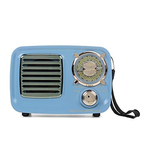 linqingshiduodeshangmaoyouxiangongsi ist Präfekt für Streaming/Podcasting/Gaming Tragbarer Retro FM AM SW. Radio Bass Bluetooth-Lautsprecher MP3. Spieler USB AUX TF. Karte (Color : Black)