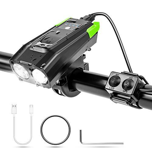 XianJu Fahrradlicht,USB Wiederaufladbare Frontlicht Wasserdicht Fahrradlampe Mountainbike Fahrradlichter Mit Berührungsschalter Einstellbarer Beleuchtungsmodus und CE ROHS-Zertifizierung erhalten.