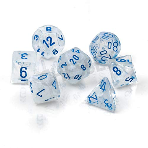 Chessex Polyhedral 7-Die Set - Borealis Icicle-Light Blue with Luminary 27581 (CHX27581)