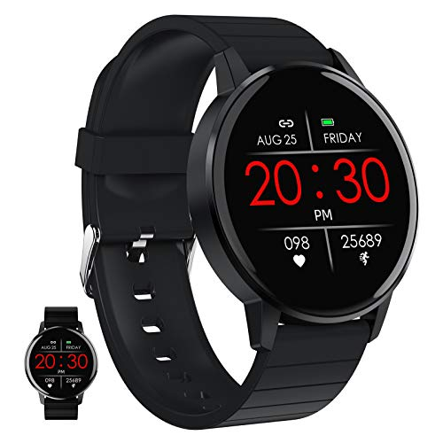 BNMY Smartwatches, Tracker De Fitness avec Moniteur De Fréquence Cardiaque, Tracker D'activité avec Écran Tactile De 1,3 Pouces, Podomètre Étanche IP67 Smartwatch avec Moniteur De Sommeil, Compteur,B