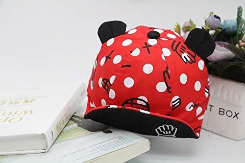 Weichuang - Gorro de algodón para bebé, diseño de dibujos animados, color rojo, talla 6 a 24 meses.