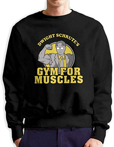FERFF Dwight'S Gym For Muscles Mans Classic Vintage Long Sleeve T-Shirt