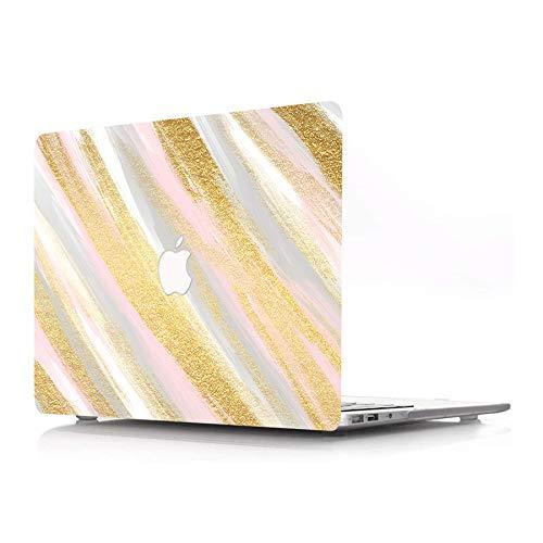 AJYX - Carcasa rígida de plástico solo compatible con MacBook Pro de 13 pulgadas (modelo: A1278, con CD-ROM) Release 2012/2011/2010/2009/2008, color rosa dorado