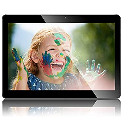10.1 Inch Android Tablet, QIMAOO Google Quad Cord Phablet, 16GB ROM 1GB RAM, WIFI, GPS, Cameras, Dual SIM Card Slots, Google Play1280*800 HD IPS Screen, Metal Housing, Android 8.1 Tablet Pad Q10