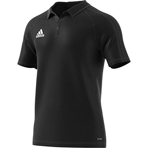 adidas Herren Tiro 17 Poloshirt, Black/Dkgrey/White, 2XL