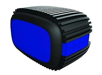 Sharper Image Bluetooth Speaker 4.0 Water Splash-Proof Rugged Design for Outdoors  Black/Blue