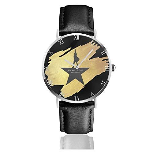 Relojes Anolog Negocio Cuarzo Cuero de PU Amable Relojes de Pulsera Wrist Watches Hamilton el Musical
