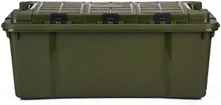 OFAY Car Storage Box Environmental Plastic Multi-Function Double Layer Trunk Storage Box  Car Home Storage Green 75L