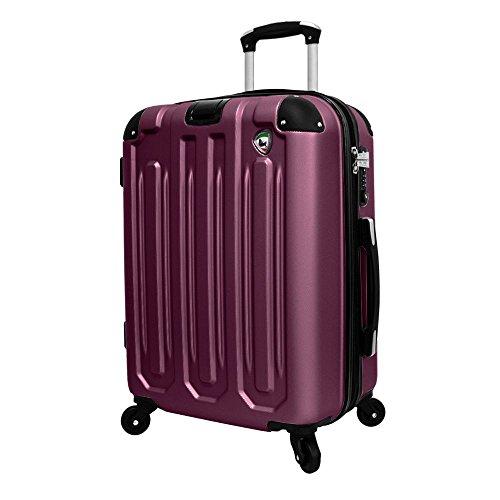 Mia Toro Regale Composite Hardside 66 cm Spinner, weiß, Einheitsgröße, burgunderfarben (Rot) - M1007-26in-BUR