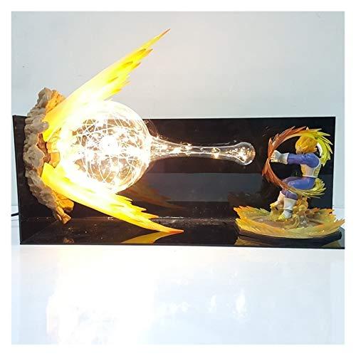 MOLUO Veilleuse Lampe Dragon Ball Z Vegeta Final Flash Lampe LED Night Lights Bureau Dragon Ball Super Vegeta LED Lampara Dragon Ball