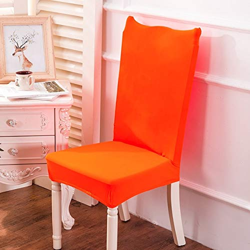 PCSACDF Effen Kleur Stoel Cover Stretch Wasbare Goedkope terug wijde kussensovertrekken voor eetkamer Hotel Bankett Home Office Stoel Universal size oranje