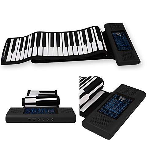 Piano plegable, teclado de piano portátil de 88 teclas con conexión Bluetooth con pedal de sostener, piano digital para principiantes, soporta múltiples conexiones de dispositivos
