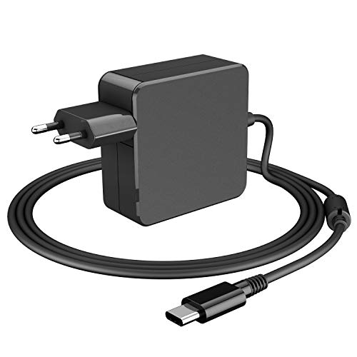 65W USB C Netzteil Type C AC Adapter PD Netzteil, Notebook Ladegerät für Lenovo, ASUS, Acer, Dell, Xiaomi Air, Huawei Matebook,Apple MacBook Pro, HP Spectre, Thinkpad und anderen Laptops Typ C Charger