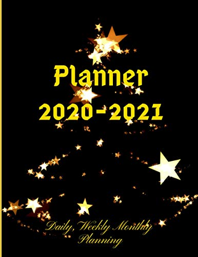 Planner 2020-2021: Merry Christmas, Happy new year, Joyeux Noël, Fröhliche Weihnachten, Perfect Gift for Best friends, for Training meeting Day ... with holiday + Scheduling Secretarial