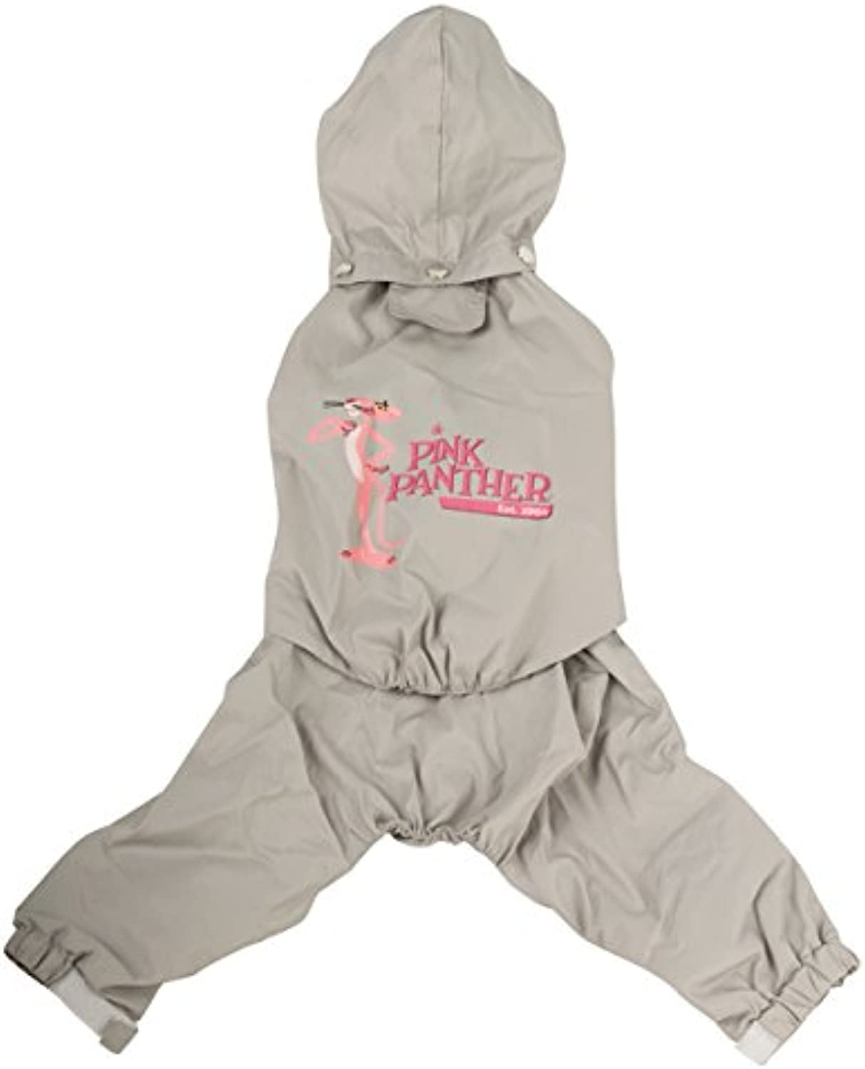 Pink Panther Detachable Hooded Raincoat with Legs, XLarge, Ice Grey