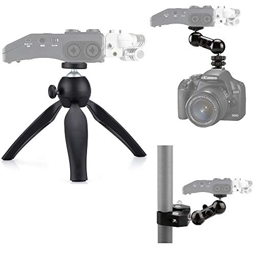 3-in-1 Zoom Recorder Tripod,Clamp Mount Stand Accessory Kit for Zoom Recorder H6 H5 H4n H2n H1n,Tascam Recorder DR-40 DR-05 DR-22WL DR-44WL DR-100MKIII - Acetaken