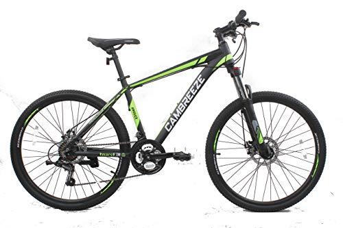 Mars Cycles Y660 Mountainbike/Fahrräder, 26 Zoll Rad, Leichter Aluminiumrahmen, 21 Gänge, Shimano-Scheibenbremse, Schwarz