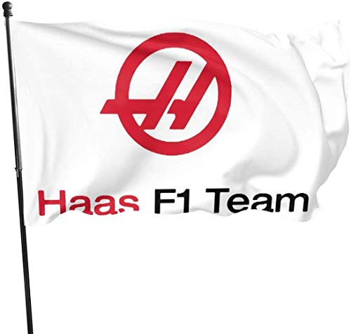 Viplili Flagge/Fahne, Haas F1 Team Flags 3x5 Feet -Polyester Flags Garden House Outdoor Banners Decorative Flag