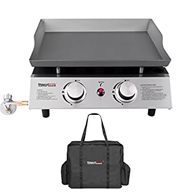 Royal Gourmet Portable 2 Burner Propane Gas Grill Griddle Pd1201 ( Griddle + Carry Bag)