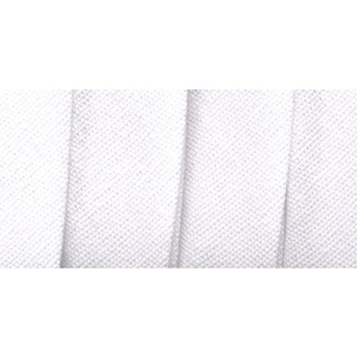 Wrights 117-206-030 Extra Wide Double Fold Bias Tape, White, 3-Yard