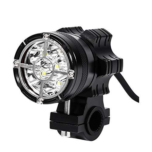 Yipianyun Niebla LED De La Motocicleta Enciende Luces Adicionales, Luz Intermitente Adicional Ilumina Conjunto Universal Y Super Brillante con Rejilla,Negro