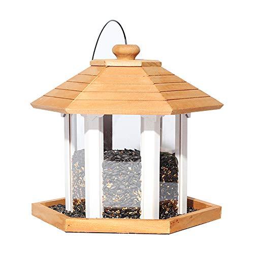 Sungmor Gifts & Decor Natuurlijke Nest Houten huis Vogelhuis |Moderne Lantaarn Stijl Vogelhuisdiervoeder | Outdoor Garden Decorating Vogelhuisje GB2044