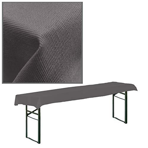 JEMIDI - Tovaglia in tessuto per tavolo da birreria, a quadretti, tovaglia da tavolo (antracite, 90 x 240 cm per tavoli da birra)