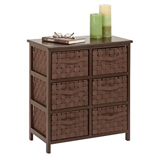 Honey-Can-Do TBL-03759 6-Drawer Storage Chest with Woven-Strap Fabric, Espresso, 24-Inch (B01DOUB3LW) | Amazon price tracker / tracking, Amazon price history charts, Amazon price watches, Amazon price drop alerts