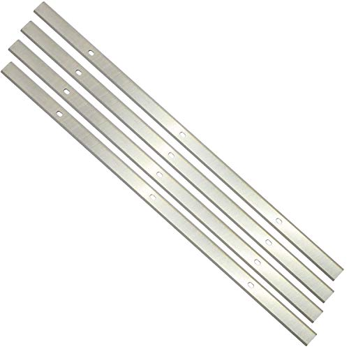 Planer Blades Knives for Delta 22-560 22-562 22-565 TP400LS Craftsman 21758 Wen 6550 Triton TPT125 Grizzly TP305 Porter Cable PC305TP 12.5 Inches HSS Replacement 4pcs