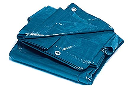 BRIXO 305280 Toldo rafia plastificado, Azul, 3 x 4 m
