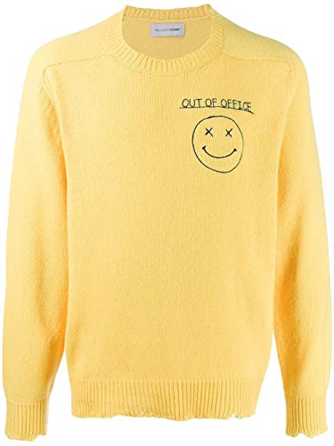 RICCARDO COMI Luxury Fashion Mens AW19GR05GOUTSOLE Yellow Sweater | Fall Winter 19