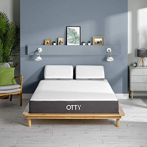 OTTY Original Memory Foam Mattress Double Hybrid - 2000 Pocket Springs Mattresses - Temperature Regulating, 25cm Thickness Medium - Firm Support - Mattress In A Box, 100 Night Trial