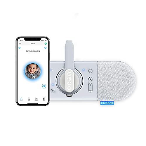 Bluebell Smart Baby Monitor - Track Sleep, Breathing, Rollover Movement, Crying. Two Way Audio, Lullabies, Night Light & Real-Time Alerts (Monitor & Hub)