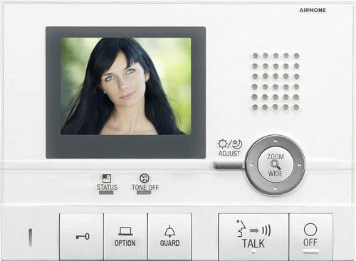 Aiphone Corporation GT-1C Hands-Free Video Tenant Station for GT Series, Multi-Tenant Intercom, ABS...