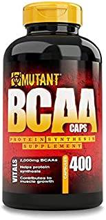 Mutant BCAA 400 - Protein Synthesis Amino Energy Supplement, Helps Muscle Growth with Protein Synthesis, Complete BCAA Formula, 100% Free Form BCAAs In Ultra-Fast Absorption Capsule, 400 Count