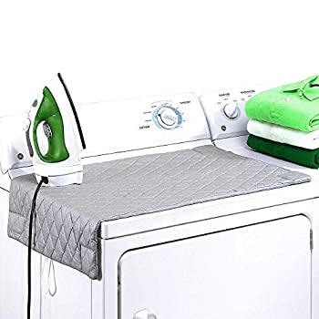 Ironing Blanket Magnetic Mat Laundry Pad 33 x 18  Gray Washer Dryer Heat Resistant Pad Iron Board Alternative Cove