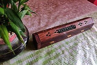 DECORVAIZ Wooden Handcrafted Elegant Incense Stick Holder Cum Agarbatti Box - Natural Brown