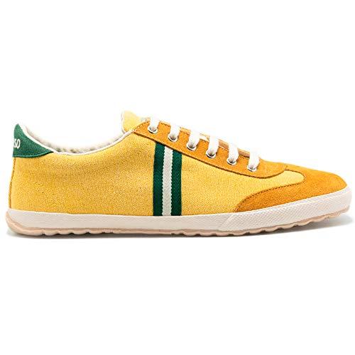 El Ganso Zapatillas Deportivas para Hombre. Match, Berliner y Low-Top. Sneaker Walking Unisex (Match Yellow Canvas, Numeric_43)
