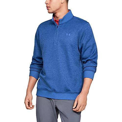 Under Armour Men's Storm SweaterFleece ¼ Zip Long Sleeve Golf Pullover, Tempest (510)/Tempest, Large